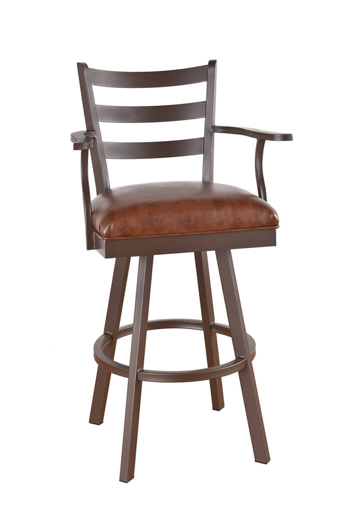 Callee Claremont Swivel Stool with Arms and Ladder Back