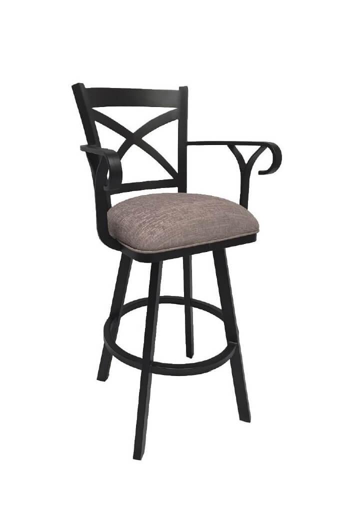 ... Callee Edison Swivel Bar Stool with Arms  sc 1 st  Barstool Comforts & Buy Callee Edison Swivel Stool w/ Cross Back Design - Free shipping! islam-shia.org
