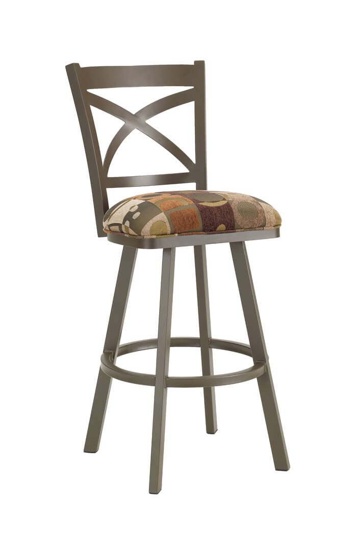 Callee Edison Swivel Stool with Cross Back Design
