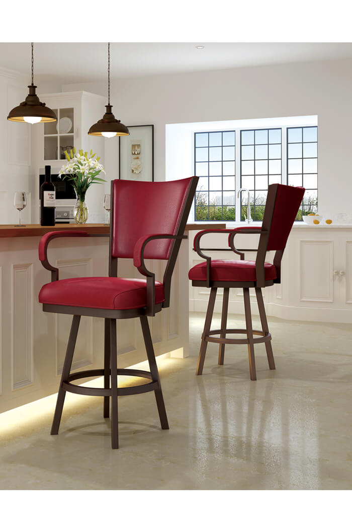 Callee Laguna Swivel Stool with Arms and Red Vinyl Callee Laguna Swivel Stool for Traditional Kitchens ...  sc 1 st  Barstool Comforts & Buy Callee Laguna Extra Tall Swivel Bar Stool u2022 Barstool Comforts islam-shia.org