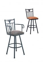 Callee Longhorn Swivel Stool with Arms for Western Kitchens