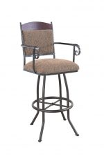 Callee Madena Swivel Stool with Arms for Tuscan Style Kitchens