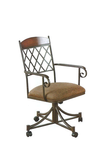 callee madison tilt recline back swivel dining chair