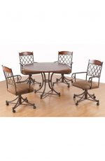 Callee's Madison Tilt Swivel Dining Chairs with Arms - Dinette Set