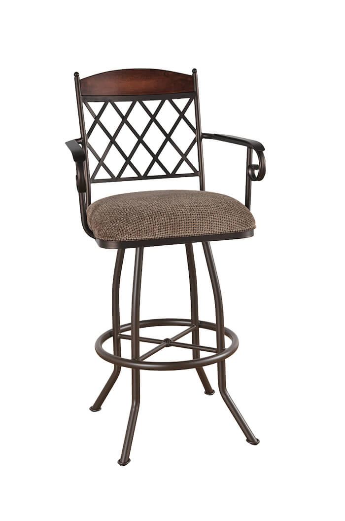 Callee Madison Swivel Stool with Arms, Tuscan Style