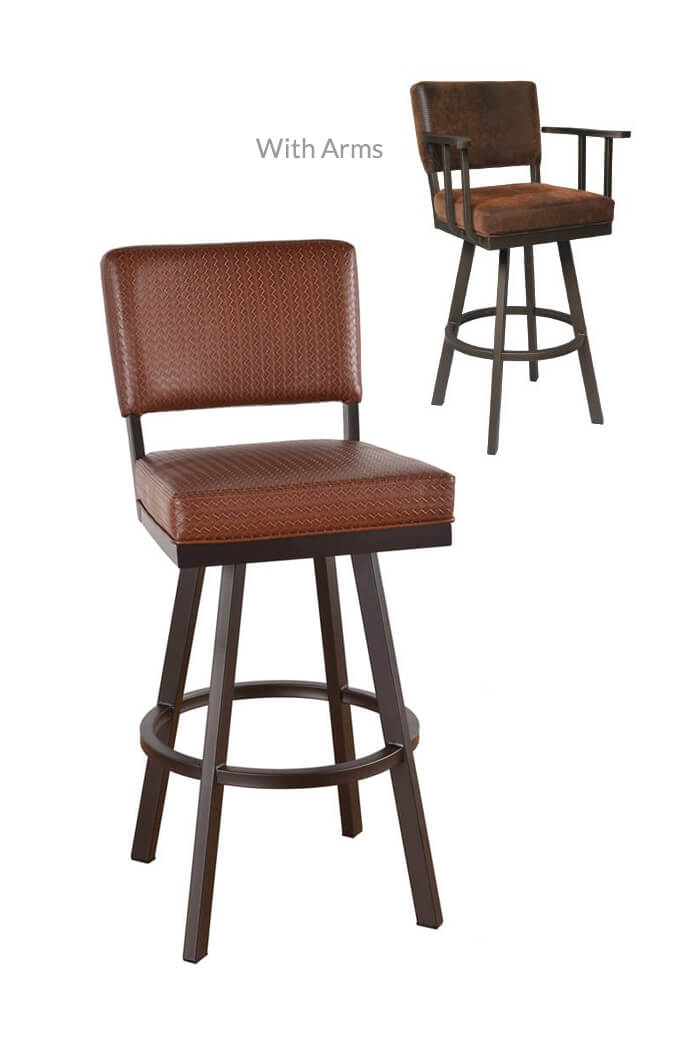 Swivel arm bar stools swivel black bar stools furniture black iron bar stool with arm sc 1 st - Pub stools with arms ...