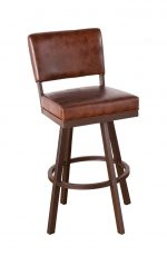 Callee Malibu Swivel Stool with Leather Look