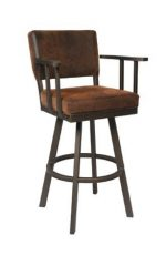 Callee's Malibu Swivel Bar Stool with Arms