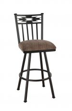 Callee Navajo Swivel Stool, Native American Back Design