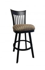 Callee's Paula Transitional Swivel Bar Stool with Mission-Style Back, Thick Seat Cushion