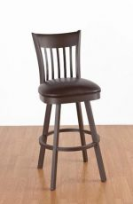 Callee's Paula Swivel Barstool with Back and Seat Cushion in Metal Frame