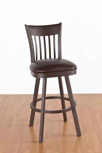 Paula Swivel Stool with Back by Callee