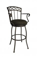 Callee Portville Swivel Bar Stool with Arms