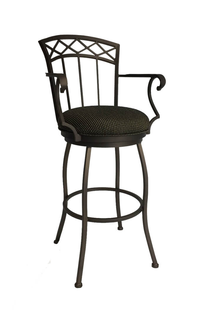 Callee portville swivel stool comfortable narrow free for Bar stools with arms
