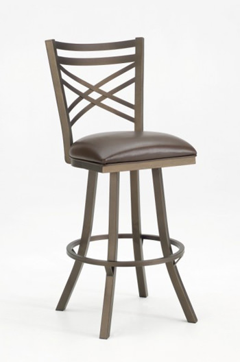 Callee Rebecca Swivel Stool W Flared Legs Amp Cross Back