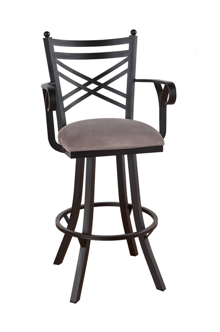 Callee Rochester Steel Swivel Stool W Cross Back Design