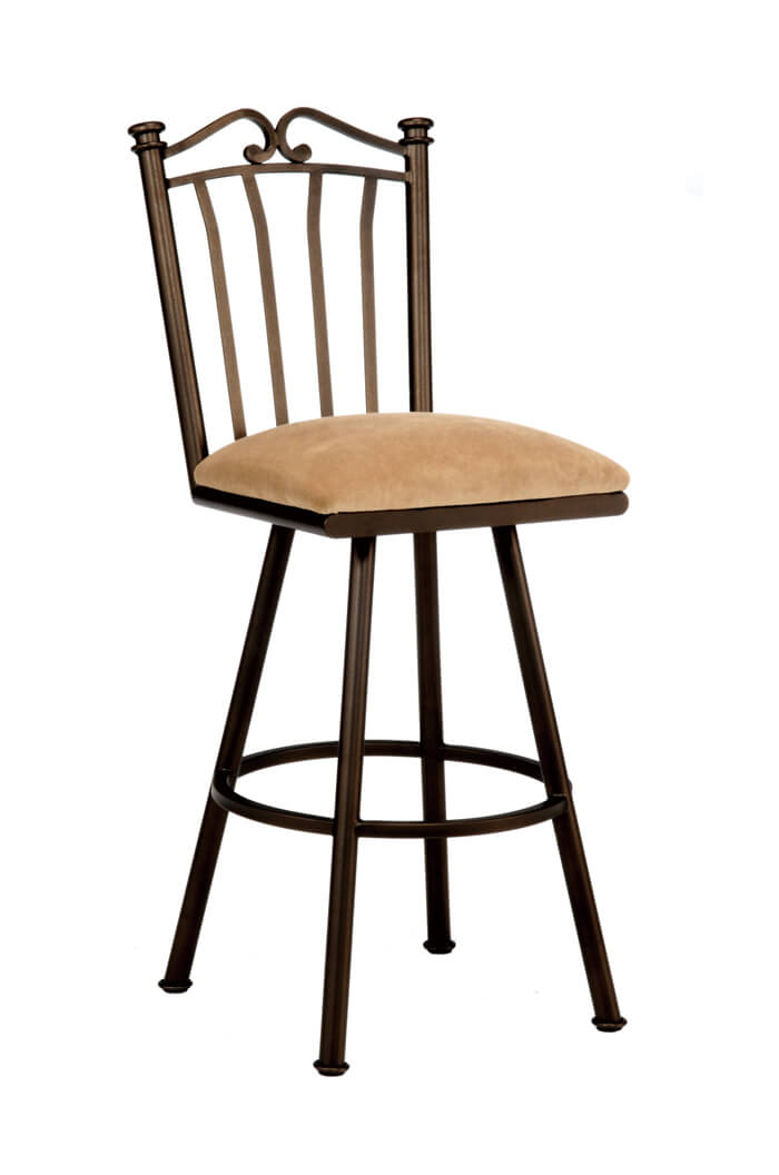 callee sunset swivel kitchen stool with tall back free shipping. Black Bedroom Furniture Sets. Home Design Ideas