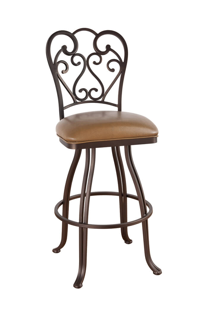 Callee Valencia Swivel Stool with Swirl Back Design