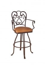 Callee Valencia Swivel Stool with Swirl Back Design and Arms