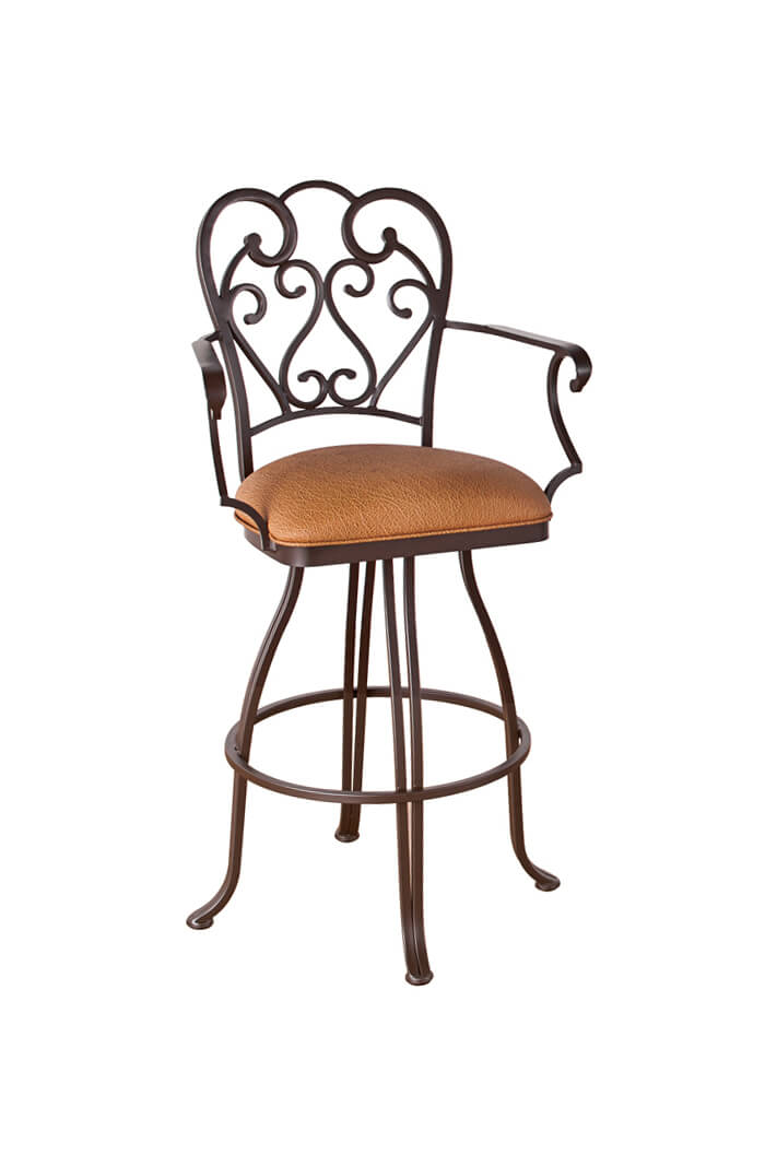 Callee Valencia Swivel Stool With Swirl Back Design Free