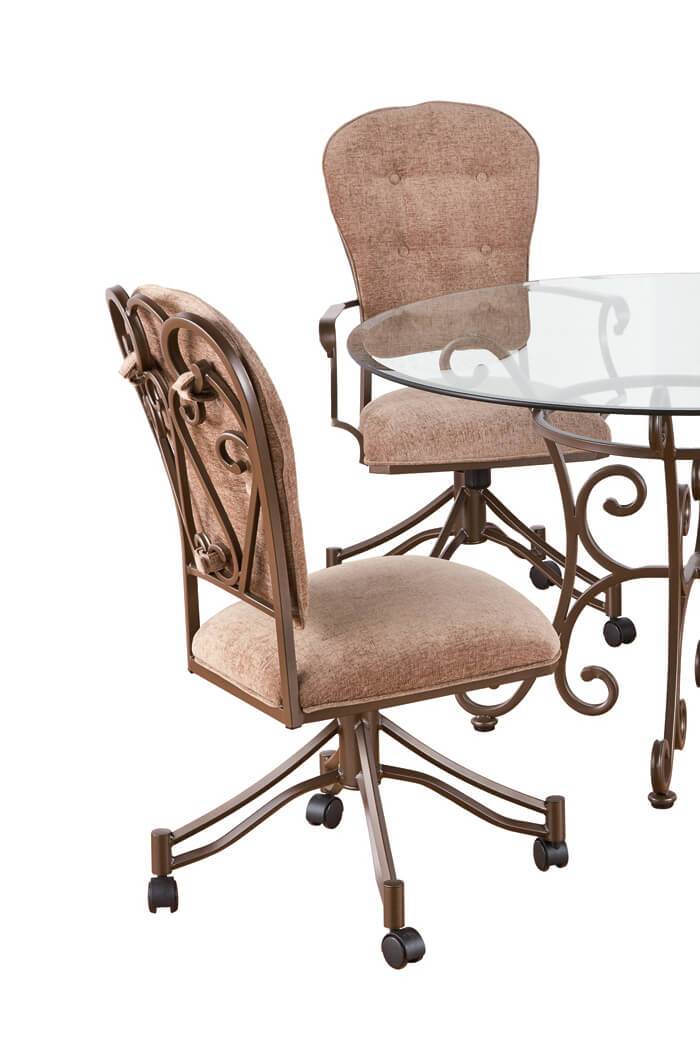 Callee S Valencia Tilt Swivel Dining Chairs W Swirl Back