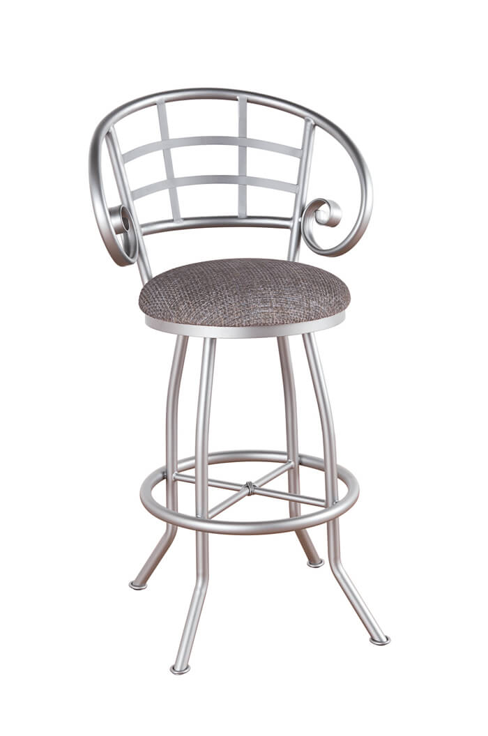 Callee Walton Swivel Stool W Lattice Back Amp Curved Arms