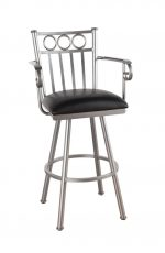 Callee Washington Swivel Stool with Arms and 3 Ring Back Design