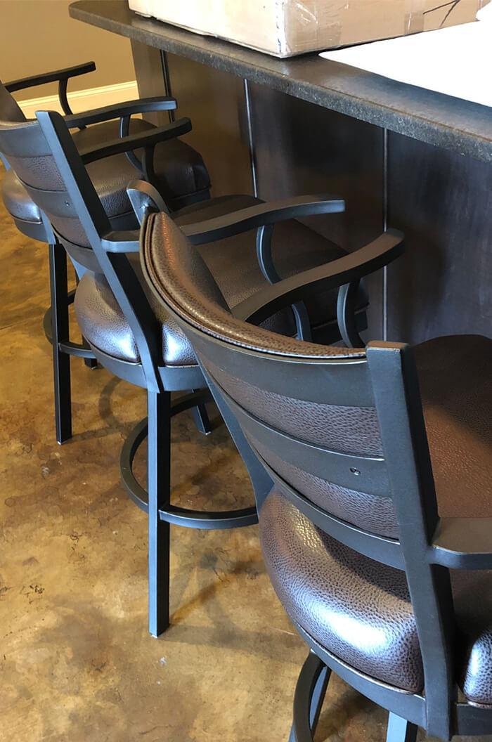 Callee Carolina Metal Swivel Stool Upholstered Seat