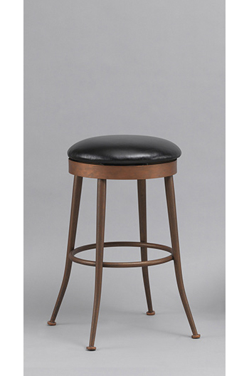 Cassia Backless Swivel Counter Stool In Copper Aged Brass