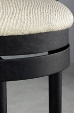 Chester Swivel Stool in Aged Iron by Wesley Allen