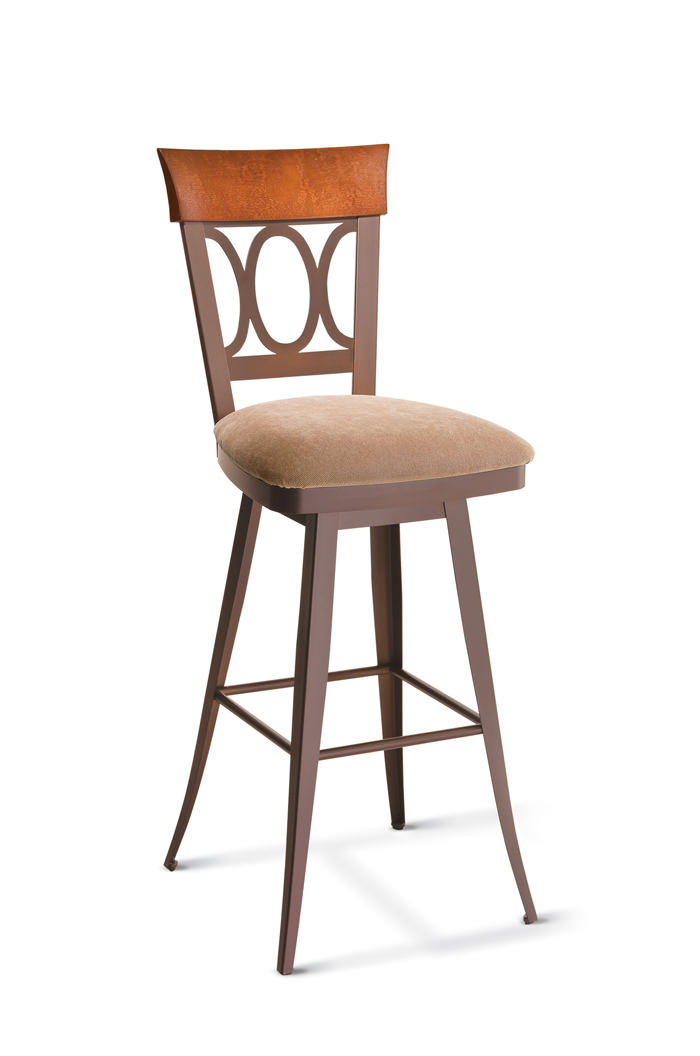 Amisco Cindy Swivel Stool with Back