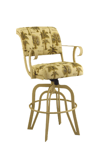 Coco Upholstered Tilt Swivel Counter Stool W Arms