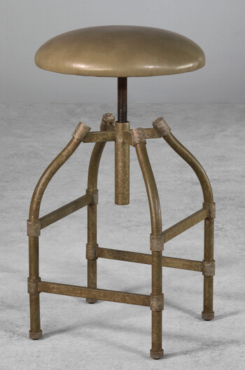 Wesley Allen's Dodge Backless Swivel Adjustable Stool