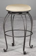 Eugene Backless Swivel Stool by Wesley Allen