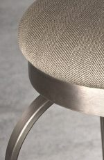 Eureka Backless Swivel Stool in Natural Steel metal finish