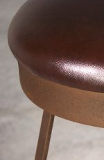 Everton Backless Swivel Stool with Copper Bisque Iron Metal Finish