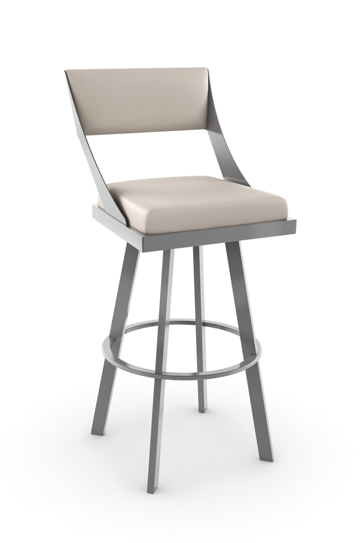 Buy Amiscos Fame Swivel Bar Stool W Back Free Shipping