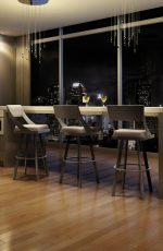 Amisco Fame Swivel Stool in Modern Kitchen