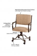 Features of the Burnet Tilt Swivel Dining Chairs
