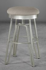 Fulham Backless Swivel Stool with Geometric Base, by Wesley Allen