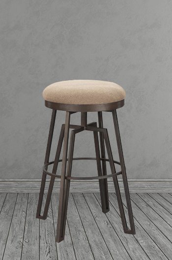 Wesley Allen S Fulham Backless Metal Bar Stool Free