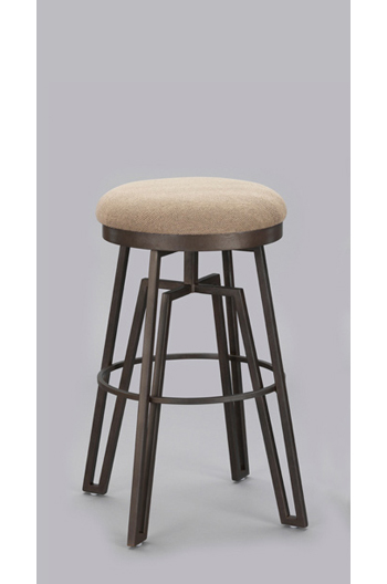 Wesley Allen S Fulham Modern Backless Swivel Counter Stool