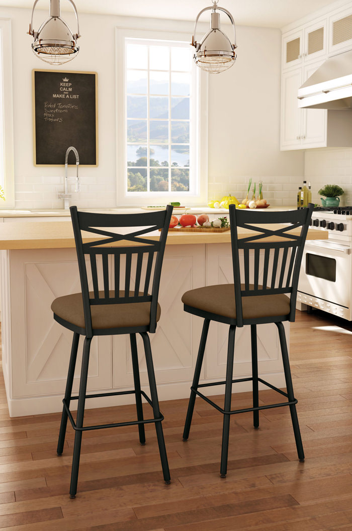 Amisco S Garden Country Swivel Bar Or Counter Stool Free
