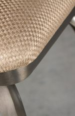 Wesley Allen's Glen Swivel Stool with Handmade Metal Finish