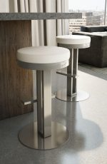 Amisco Glint Backless Stool in Modern Kitchen
