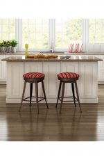 Amisco Grace Swivel Stool in Traditional Farmhouse Kitchen