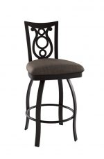 Amisco Harp Swivel Stool with Deep Seat and Backrest