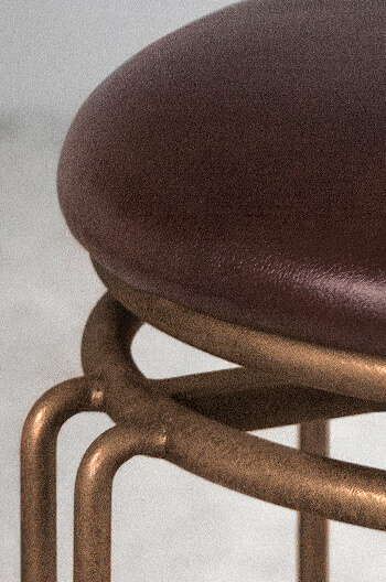 Wesley Allen S Holly Backless Swivel Stool In Bonded
