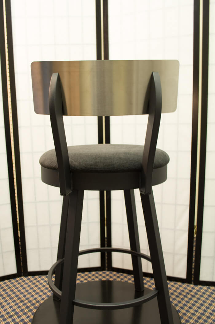 Amisco Lauren Low Back Swivel Stool W Stainless Backrest