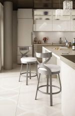 Amisco Lincoln Swivel Stool for Modern Kitchens
